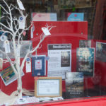 Books in Portree Post Office window